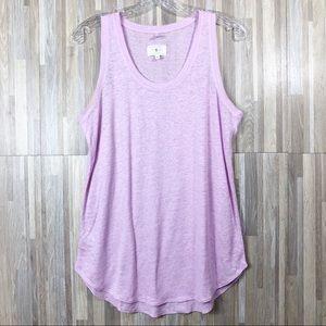Lou & Grey | Light Pink Linen Oversize Tank Top